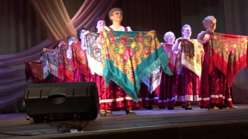 2018 апрель Творчество-путь к долголетию танец Русские узоры танцгруппа Ритм