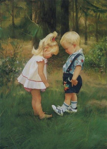 Счастливое детство  Художник Donald Zolan