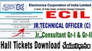 How to Download ECIL Junior technical Officer Jr Consultant Gr1 Gr2 Hall Tickets Admit cards telugu