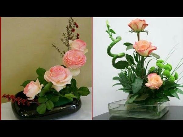 Beautiful Floral Modern Low Ball Flower Arrangement