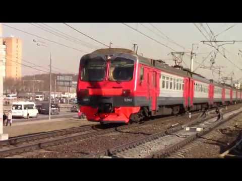 Электропоезд ЭД4М 0242 с приветливой бригадой