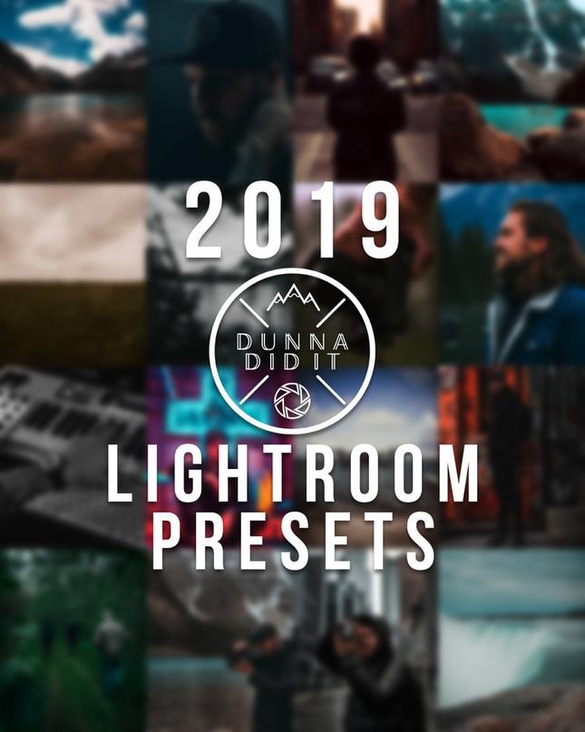 🎨 Пресеты - DUNNA DID IT Lightroom Presets (2019)