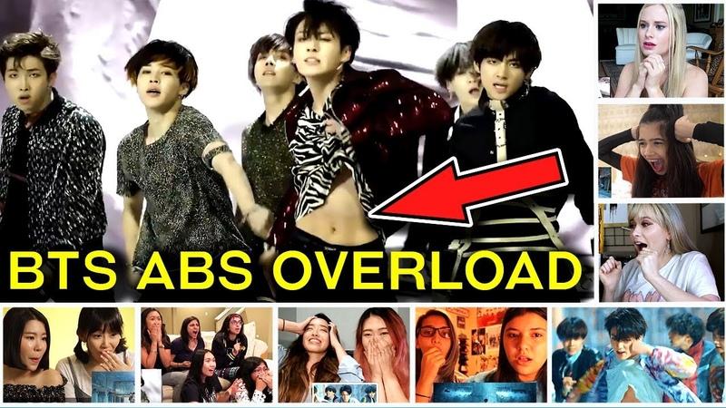 Fans React To BTS ABS Shot | BTS (방탄소년단) 'FAKE LOVE' Official MV