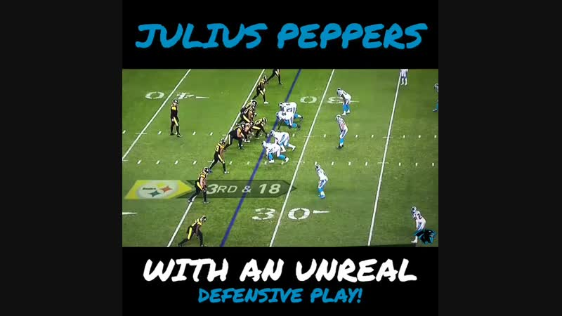 One of the only bright moments from the Panthers defense last night. 38 years young. @juliuspeppers_ is a first ballot HOF. PA