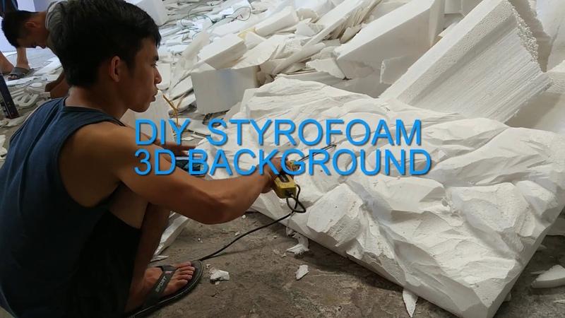 Diy styrofoam 3d background