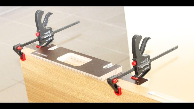 DOOR-TOOL | Врезка петли на дверном полотне при помощи шаблона DOOR-TOOL Max