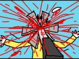 Death Metal Cartoon - Grinding Through Flesh