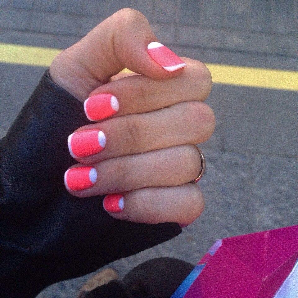 Гель лак на коротких ногтях простые