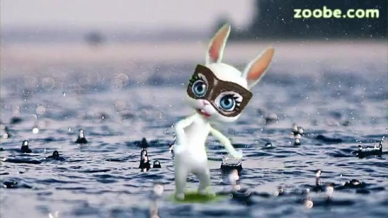 Zoobe Зайка Дождь по крышам, дождь по лужам.mp4