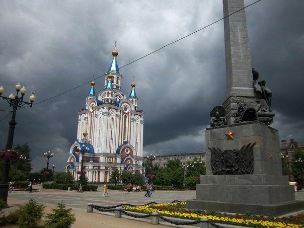 Хабаровск. Комсомольская площадь. Памятник героям Гражданской войны на Дальнем Востоке.