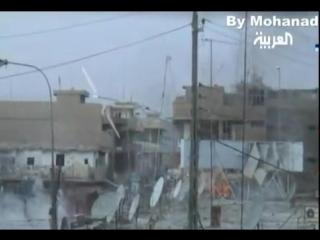 Ирак периода оккупации.подавление снайперской позиции  из пулемета m-134 minigun вертолётом uh-60 black hawk