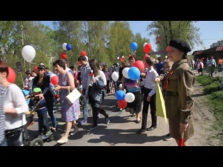 9 мая 2016 г День победы Шлиссельбург Бессмертный полк