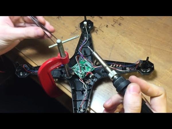 Диагностика неисправности квадрокоптер (дрон ) XKL 501: выяснили причину поломки. Движки постоянного
