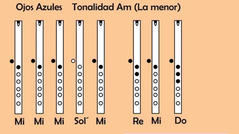 TUTORIAL DE QUENA OJOS AZULES ♪♫♬ Diego Profesor de Musica ♪♫♬ - YouTube