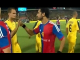 Mohamed Salah try to trick shake hand with Maccabi Tel Aviv players in israel 2013