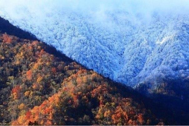 Граница между зимой и осенью