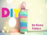 Декоративная бутылка с цветной солью ♥DIY♥DanaTinker
