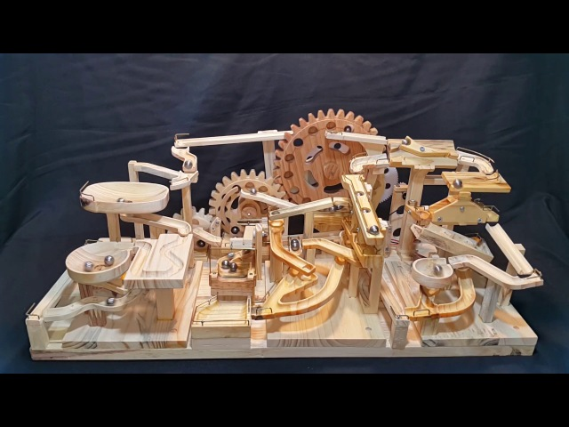 Marble Machine - Triple Gears Lift (Three Blocks Marble Race) (703)