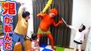●普段遊び●鬼が転んだ?だるまさん転んだ節分Ver☆桃太郎の鬼退治!! 124