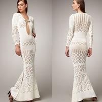 Стильное платье вязать