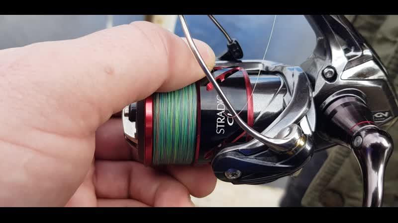 Сын испытывает новые рыболовные снасти на рыб хозяйстве Щарка результат 6 форелек