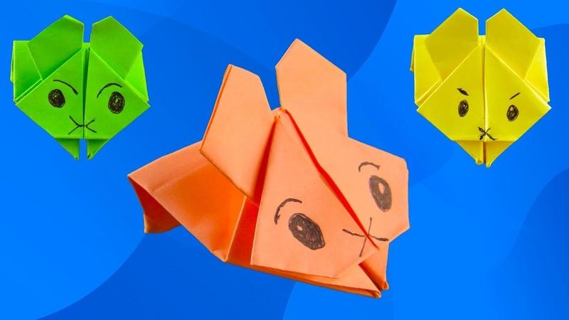 Кролик Попрыгун из бумаги своими руками Игрушка Оригами из бумаги Origami