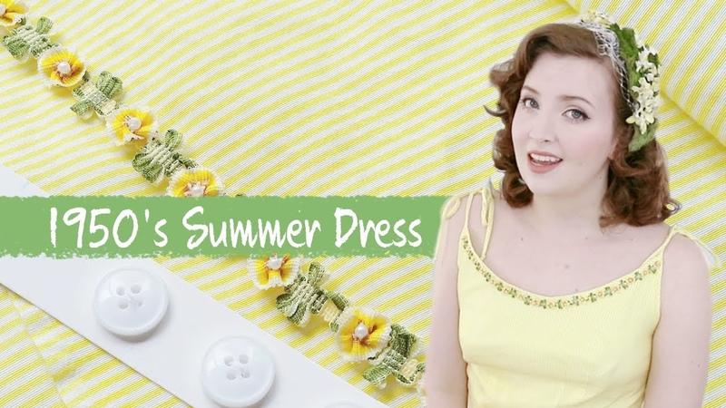 Making a Yellow 1950s Dress Sewing Vlog