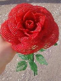 Мастер-класс розы из бисера