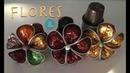 Flores hechas con capsulas de Nespresso