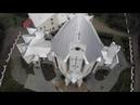 Kościół pw Matki Bożej Częstochowskiej w Żabiej Woli z lotu ptaka