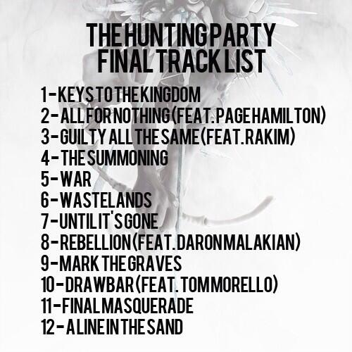 Linkin Park The Hunting Party Tour Setlist