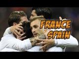 France - Spain. Football. Friendly match. Goals, highlights 28.03.2017