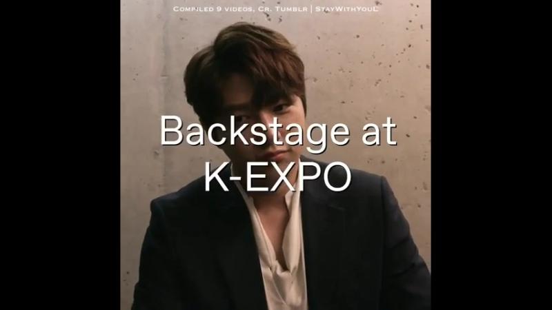 [10.10.18] Интервью Мёнсу за кулисами K-EXPO в Нью-Йорке   Видео от Tumblr