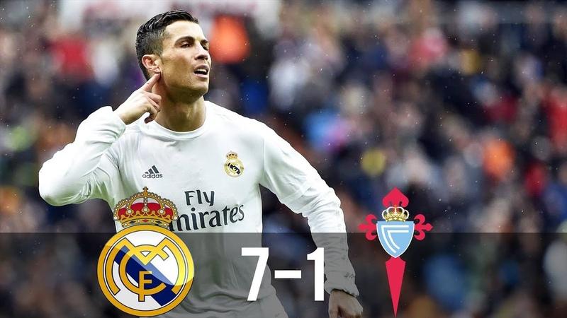 Real Madrid vs Celta Vigo 7 1 All Goals Extended Highlights La Liga 05 03 2016 HD