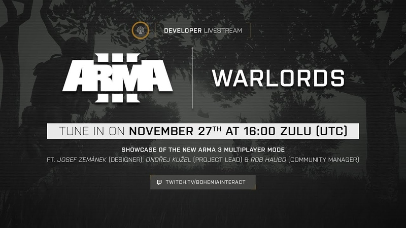 Arma 3 Developer Livestream - Warlords MP Mode