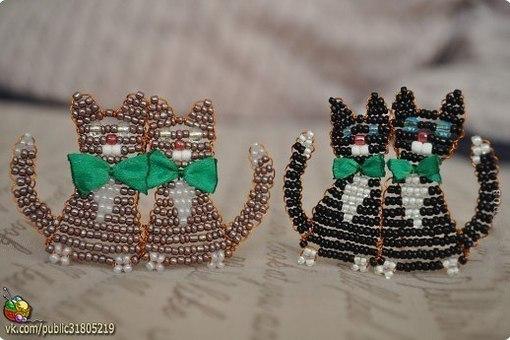 Котики из бисера. Схемы