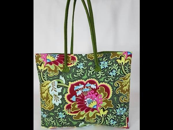 How to make a handbag with zipped pocket and magnet snap