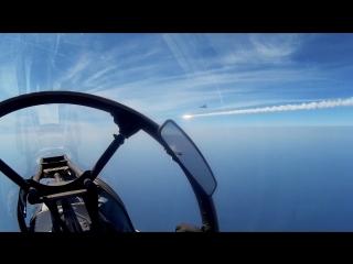 Ракетные пуски и бомбометание самолетов Су-30СМ авиации ЮВО
