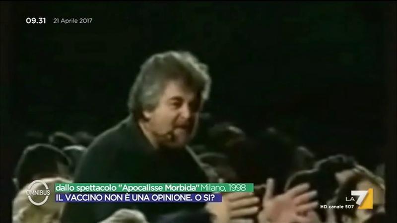 Beppe Grillo sui vaccini in un monologo del 1998