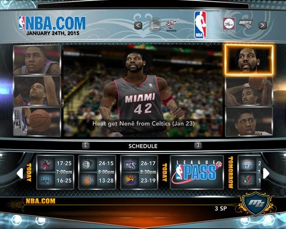 Нене в Майами НБА2К13