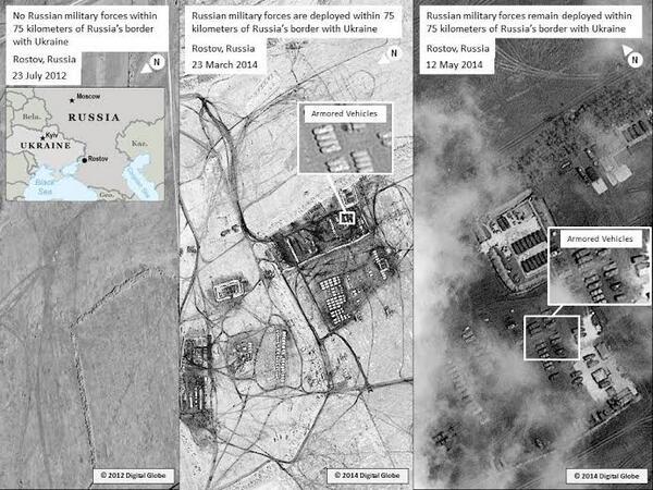 Госдеп США вновь опубликовал фото российских войск в Ростовской области на границе с Украиной