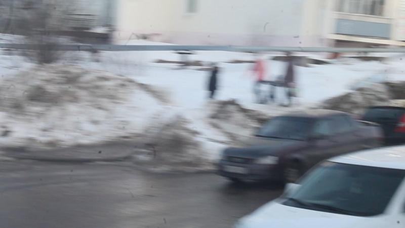 Весна на Заречной улице пос Видяево 13 04 2018 г