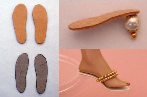 Как сделать туфли для куклы своими руками видео