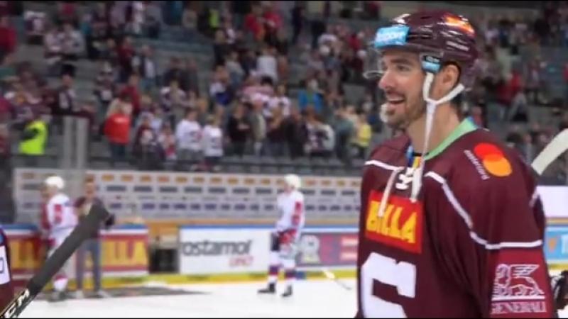 Kanaďané Zach Sill A Steven Delisle 🇨🇦 výhru nad Pardubicemi pořádně oslavili!