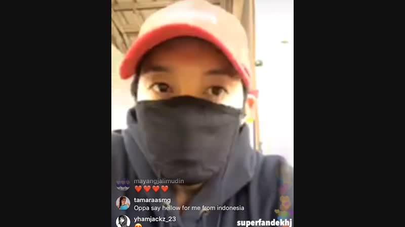 Superfandekhj [2018.10.18] Kim Hyun Joong Insta Live