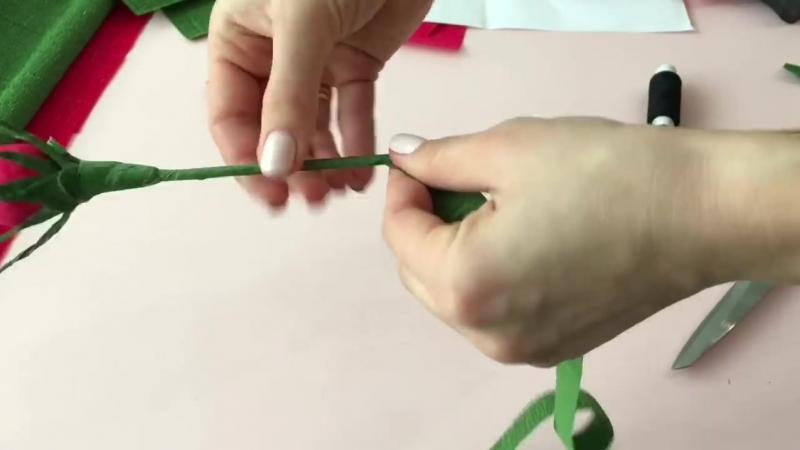 DIY Букет из Конфет Розы из Гофрированной Бумаги
