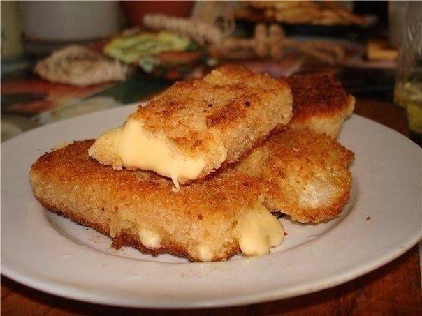 Жареный сыр по-чешски в панировке. Вкусная закуска, которая