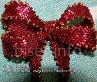 Бисероплетение Вечернее колье из бисера схема плетения - Duration.  Этот французский бантик из бисера известен...