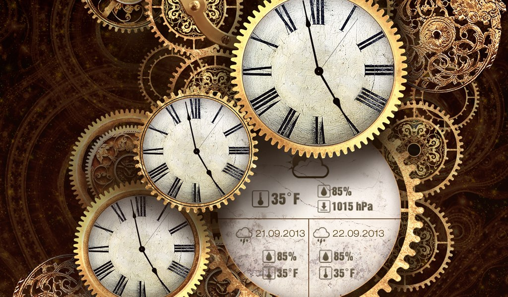 Gold clock Live wallpaper PRO - роскошные и стильные живые обои