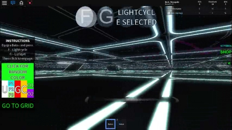 Lightcycle brakedance CLU (roblox bugs)